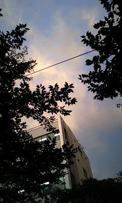 不思議な空の色なのら